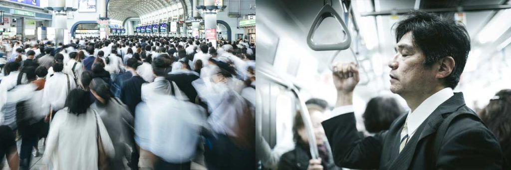 corona virus commute train コロナ ウイルス 通勤 満員電車